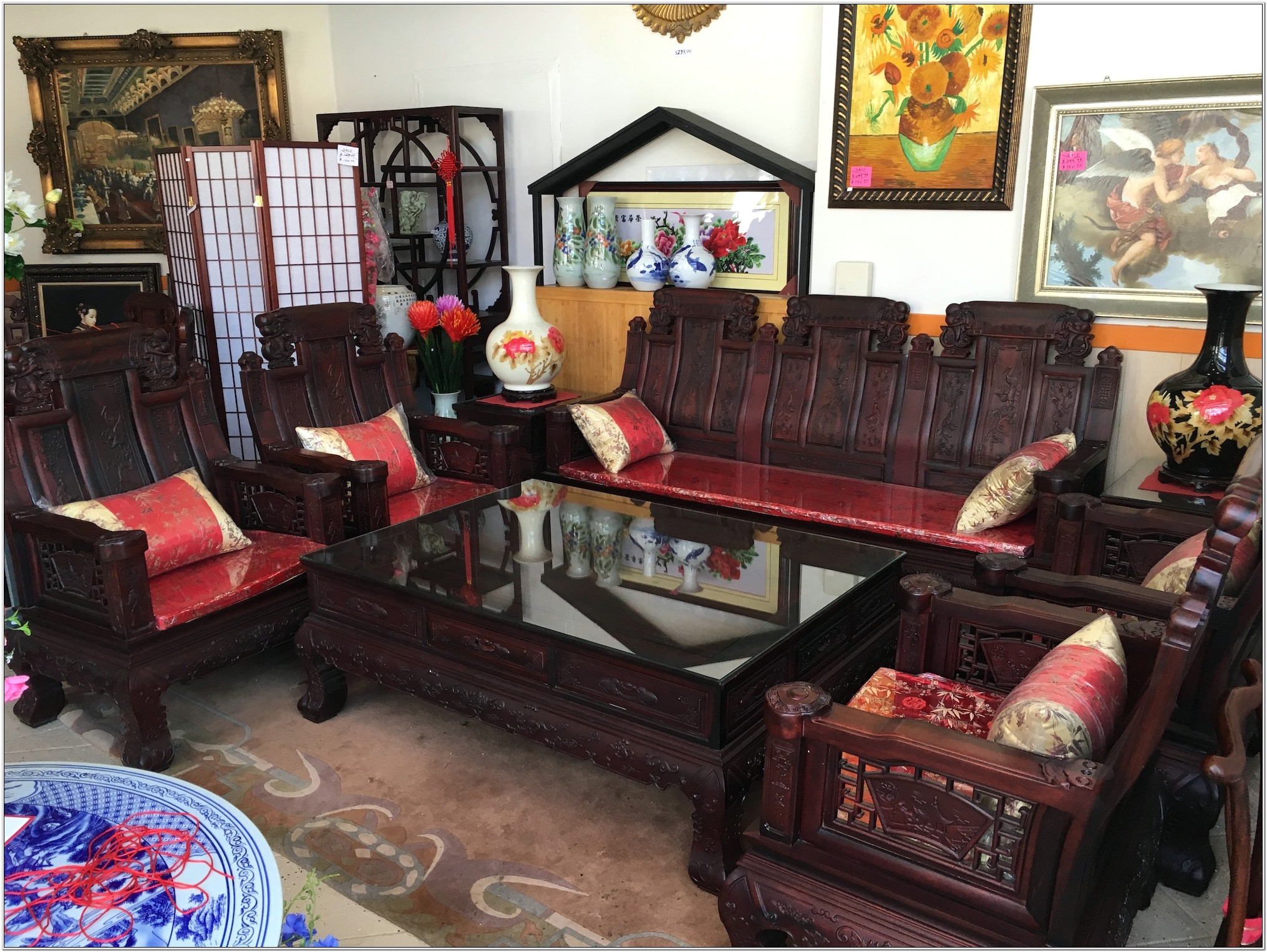 Chinese Living Room Set