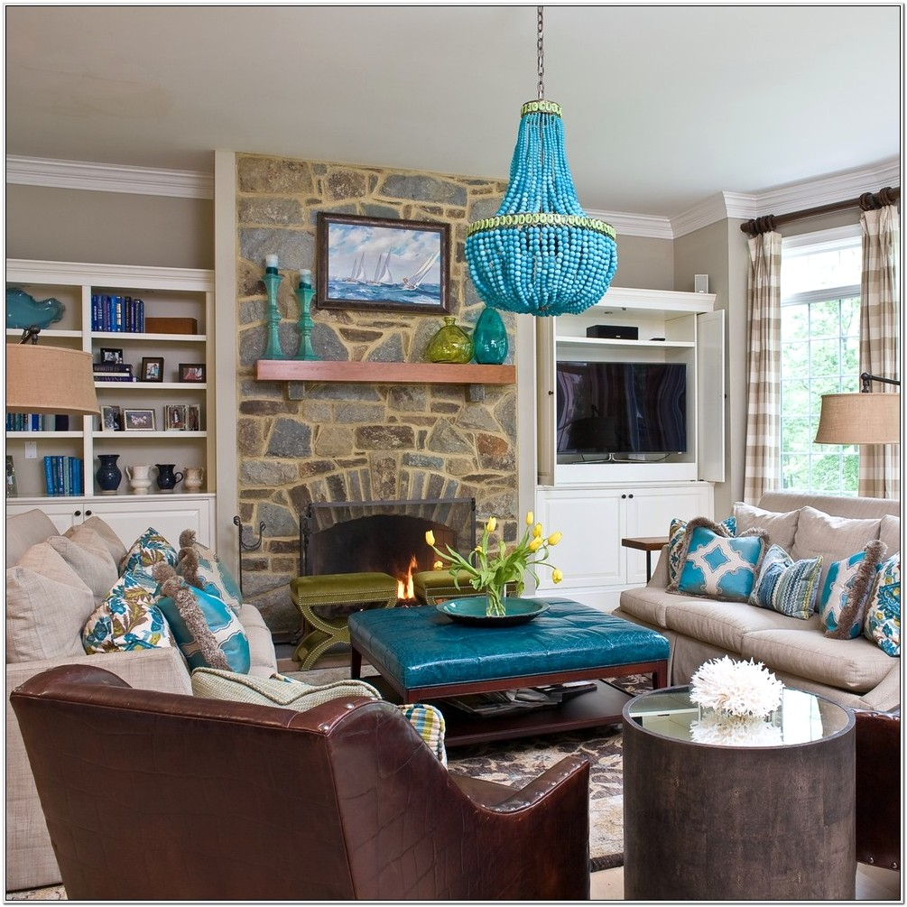 Chocolate Brown And Turquoise Living Room Ideas