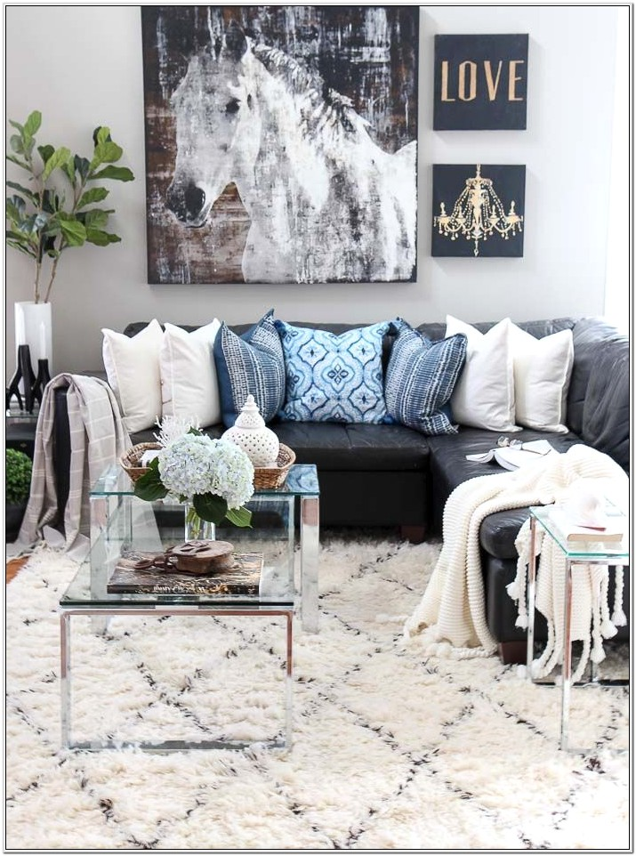 Decorate Living Room With Gray And Blue