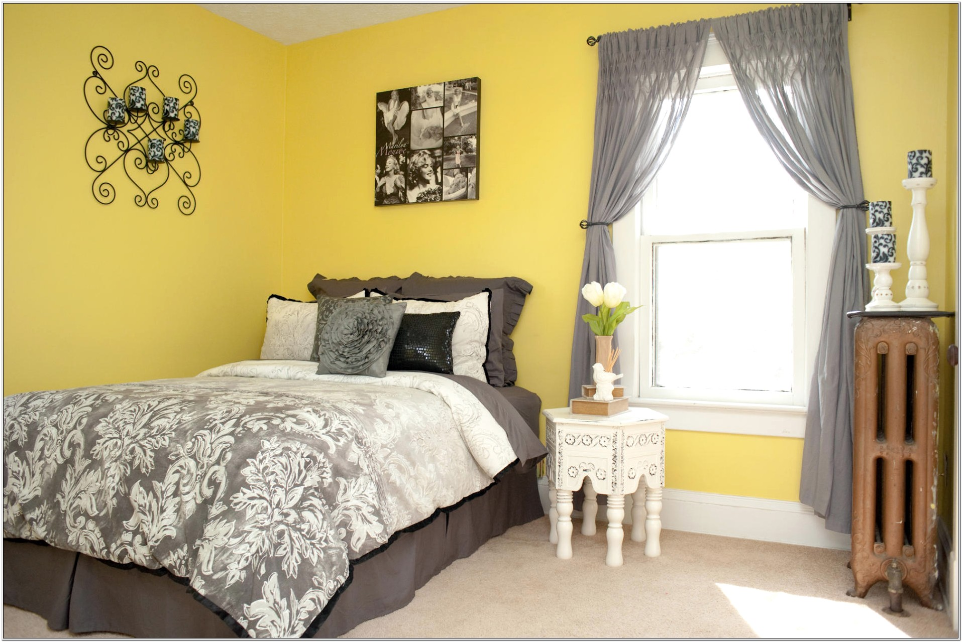 Decorating A Bedroom With Pale Yellow Walls