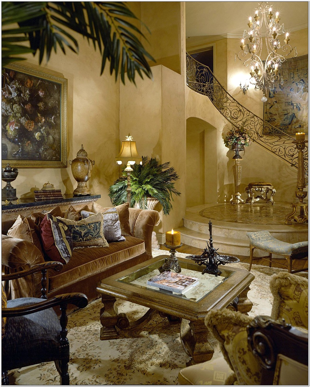 Decorating Tuscan Style Living Room