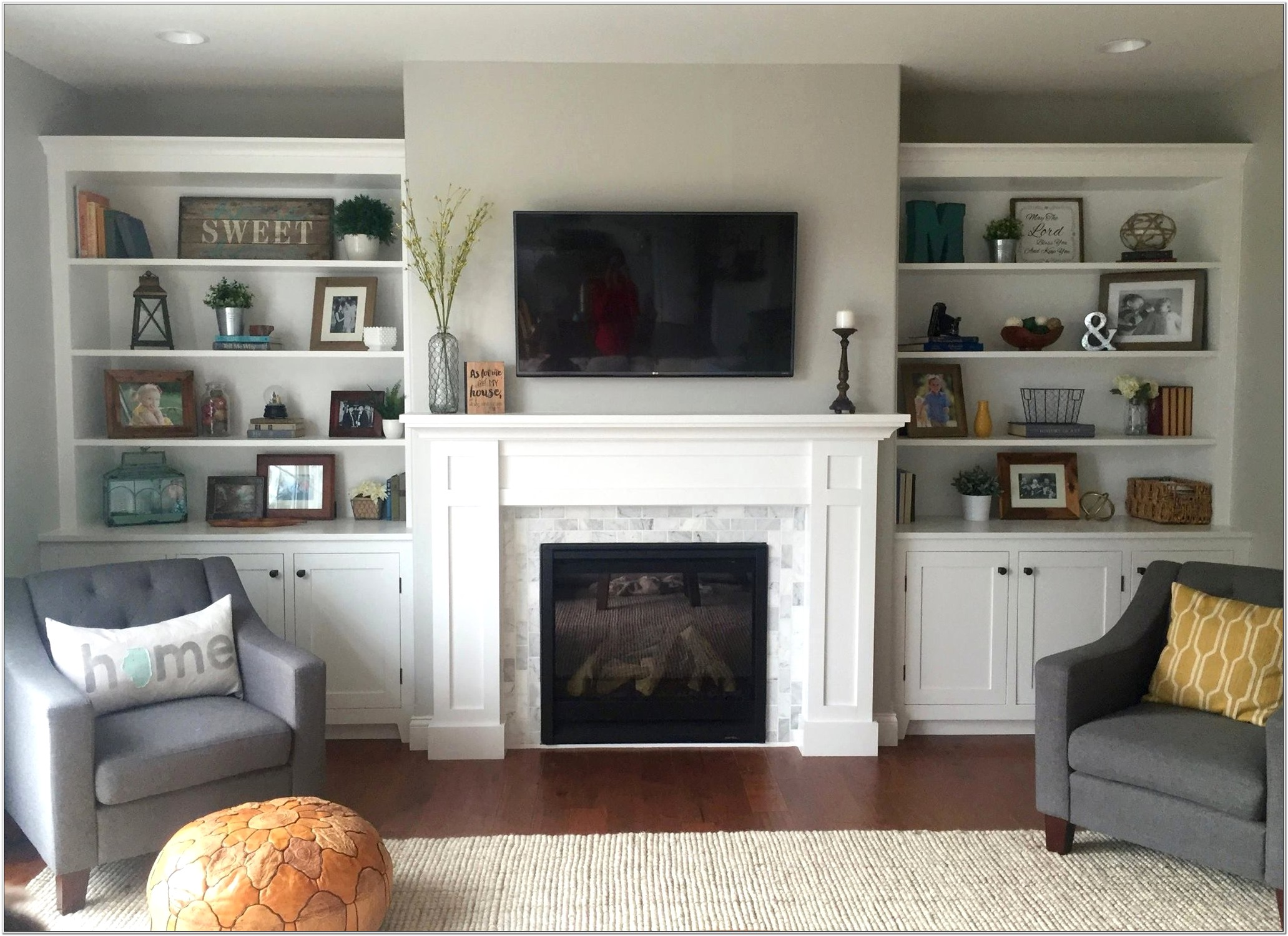 Living Room Cabinet Decorating Ideas Unique Built In Living Room Cabinets