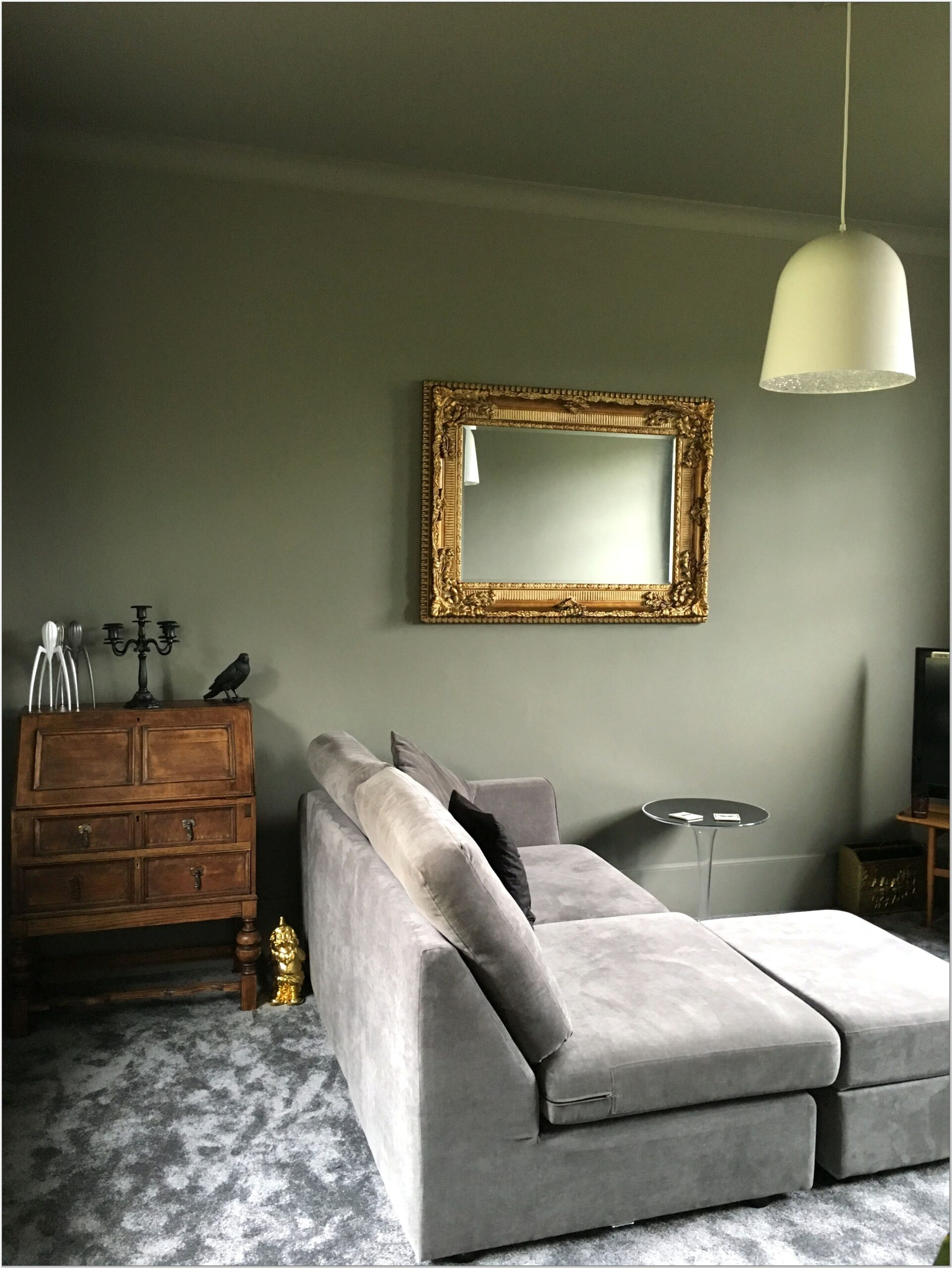 Gray And Moss Green Living Room Ideas