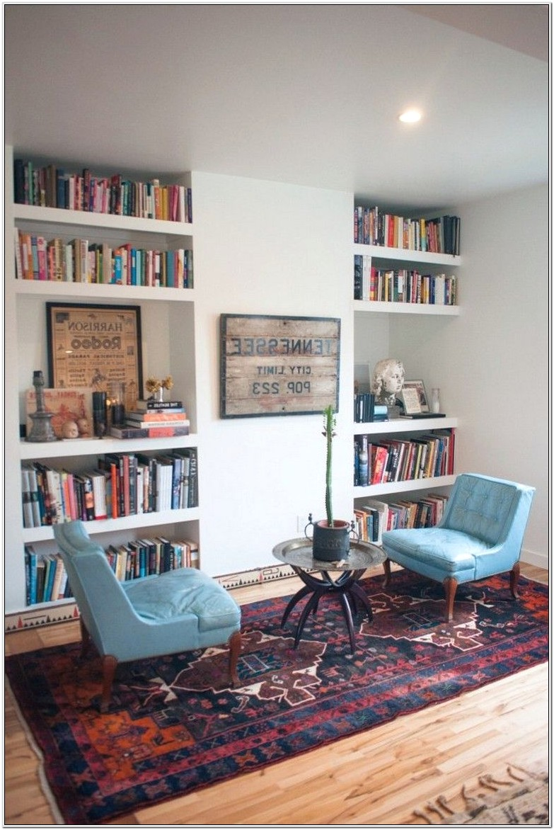 Home Library Living Room Design