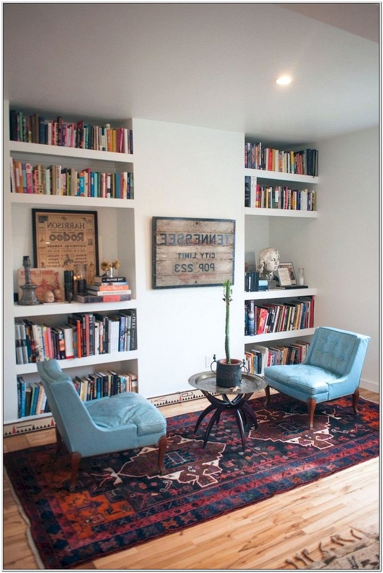 Home Library Living Room Ideas