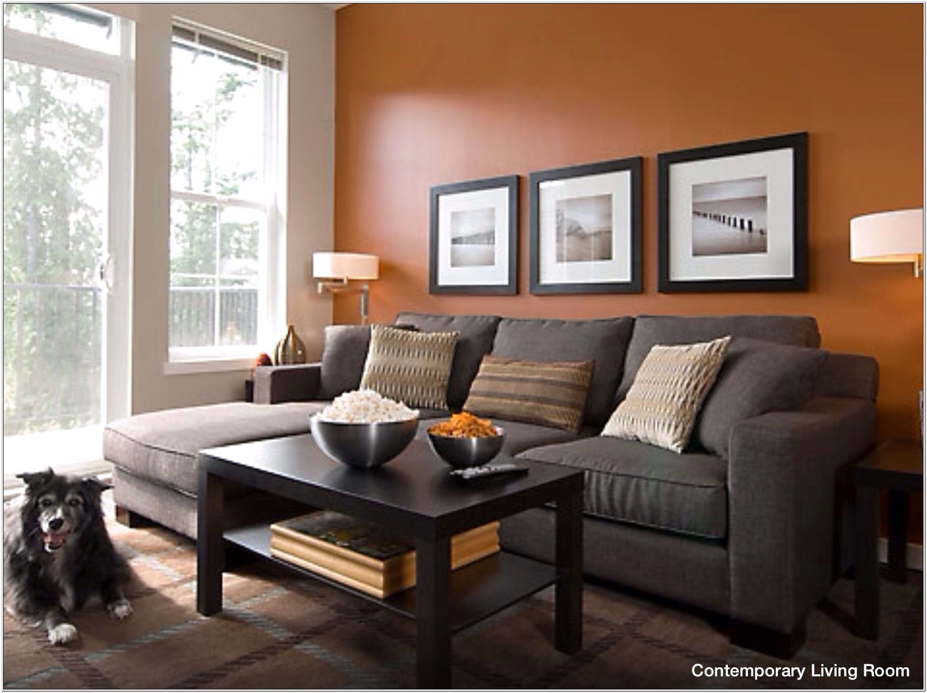 Ideas For Orange Accents In Living Room