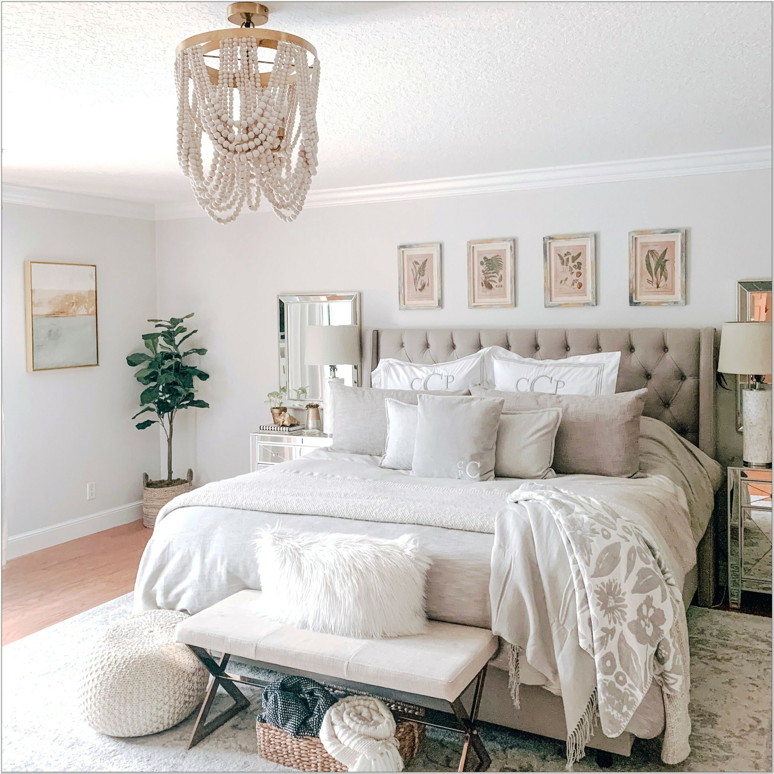 Ivory And White Bedroom Decor