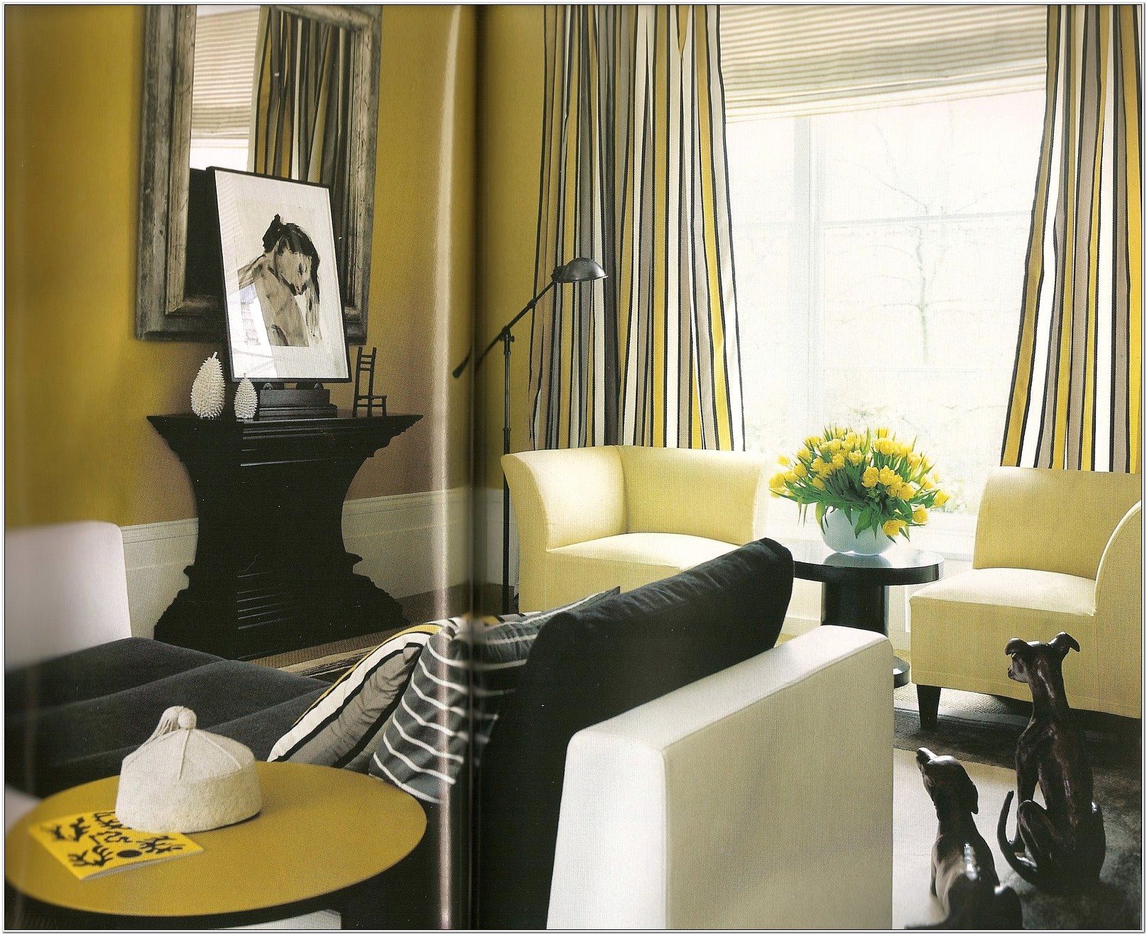 Lime Green And Grey Living Room Ideas