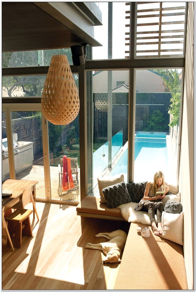 Living Room Design With A Pool