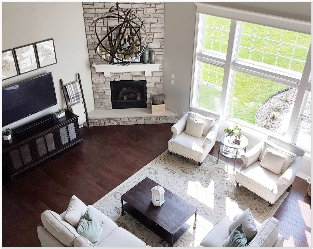 Living Room Furniture Ideas With Corner Fireplace