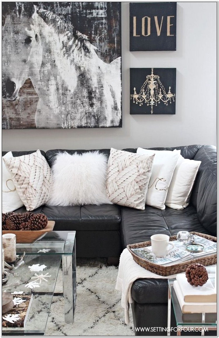 Living Room Ideas With Black Leather Couch