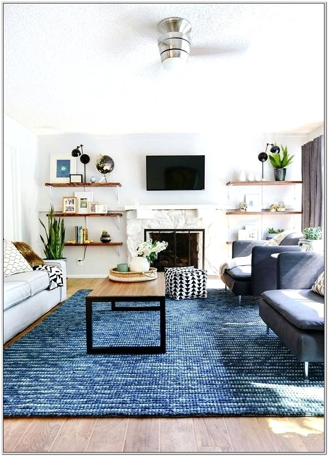 Living Room Ideas With Blue Rugs