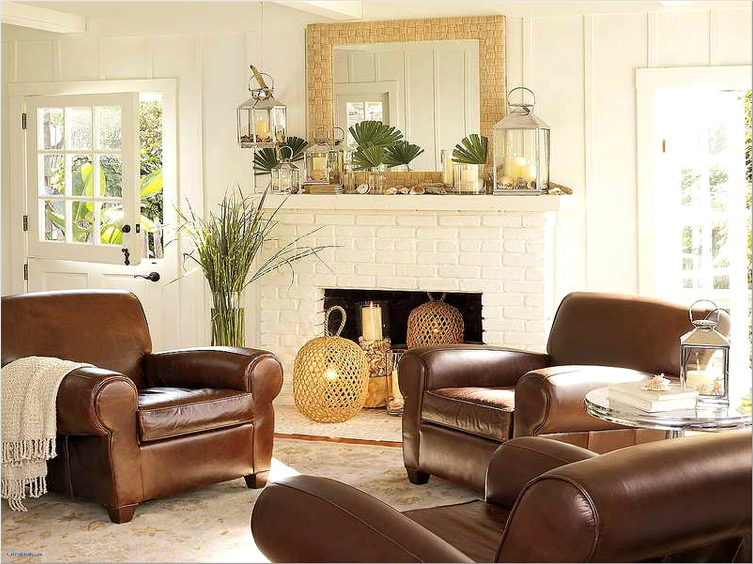Living Room Ideas With Dark Leather Sofa