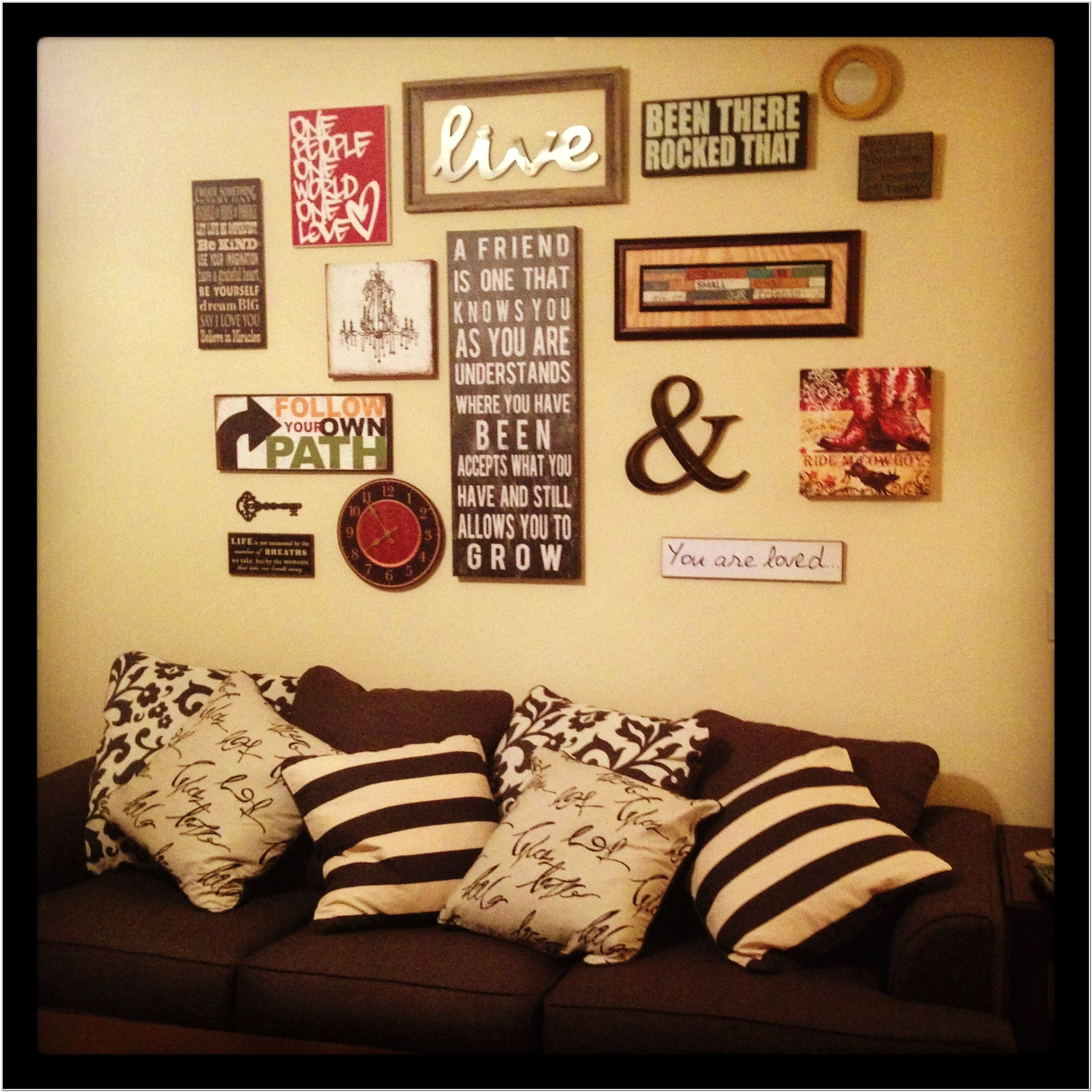 Living Room Picture Collage Ideas
