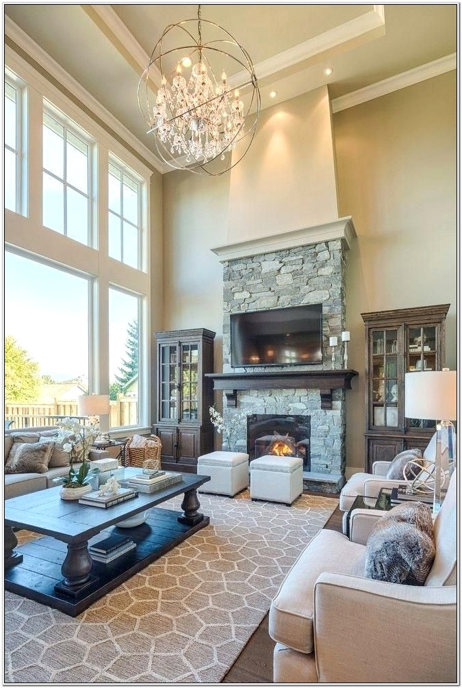 Living Room With Area Rug Ideas