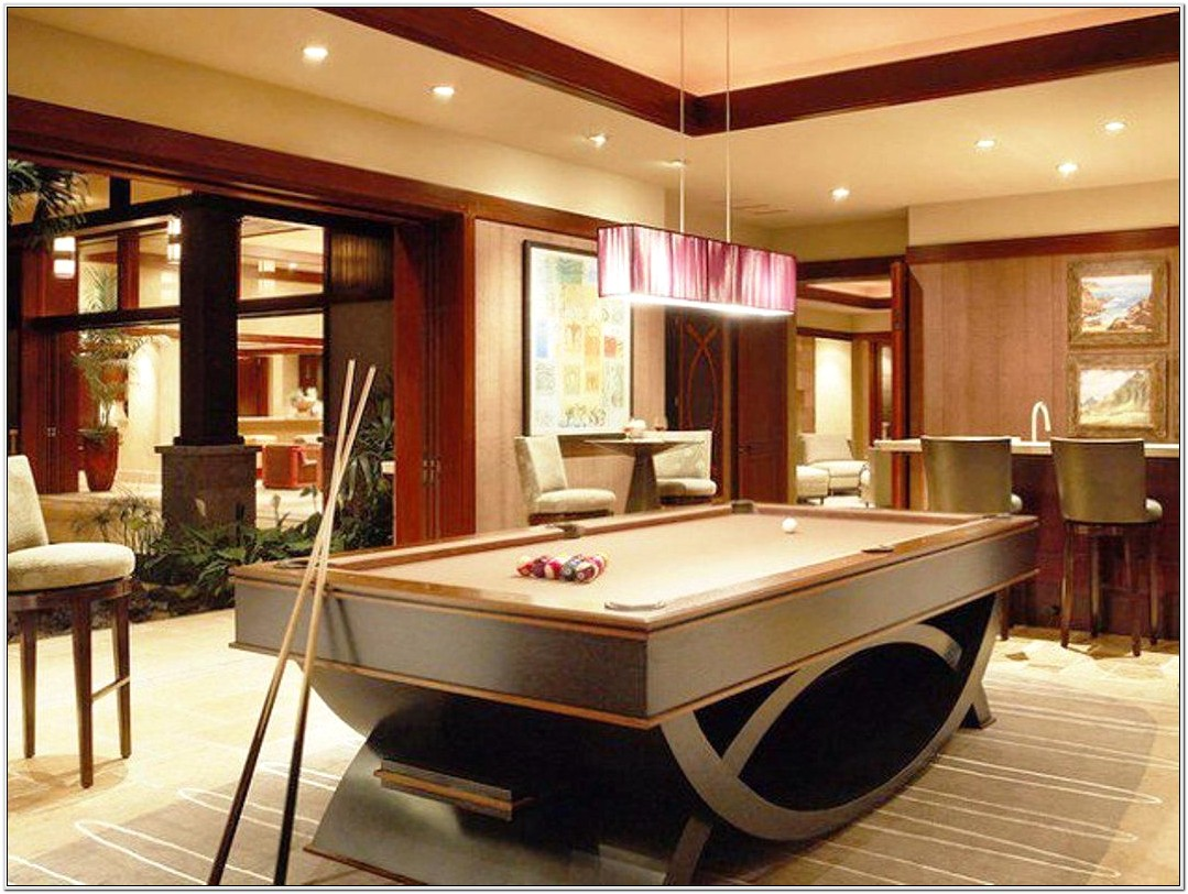 Living Room With Pool Table Ideas