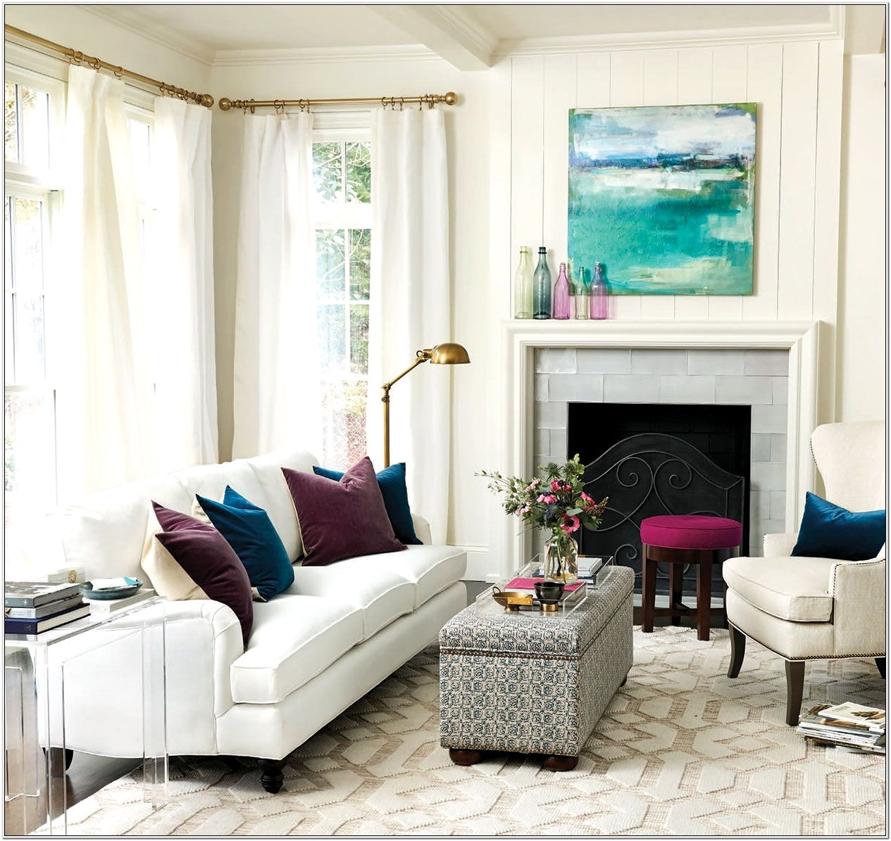 Living Room Without Furniture Ideas