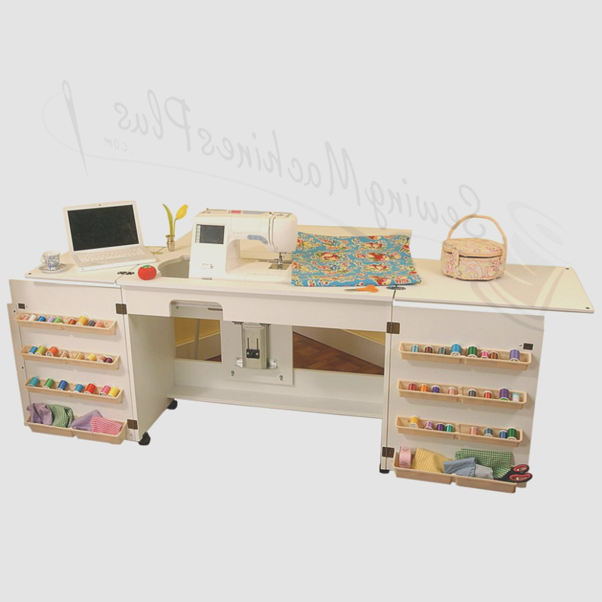 Arrow Cabinet 1 Bertha Sewing Cabinet White