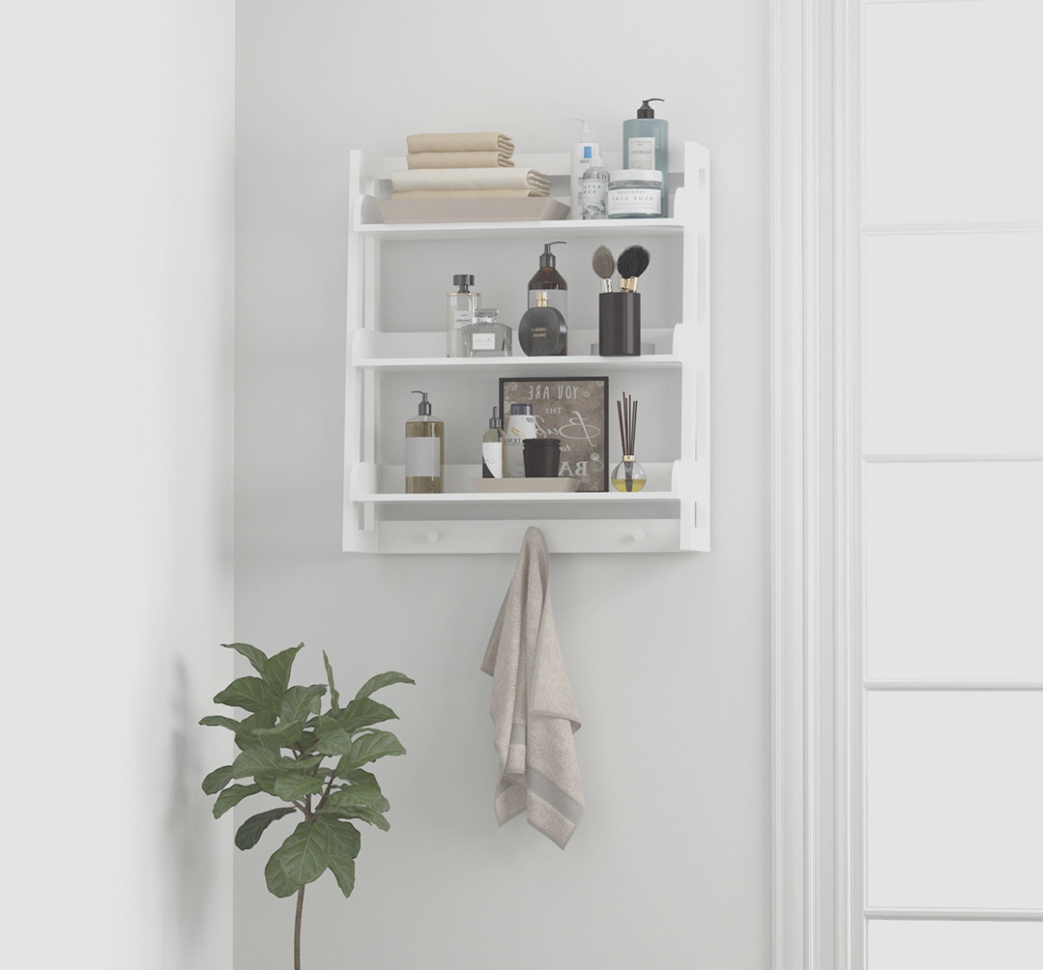 Bathroom Wall Cabinet With Hooks