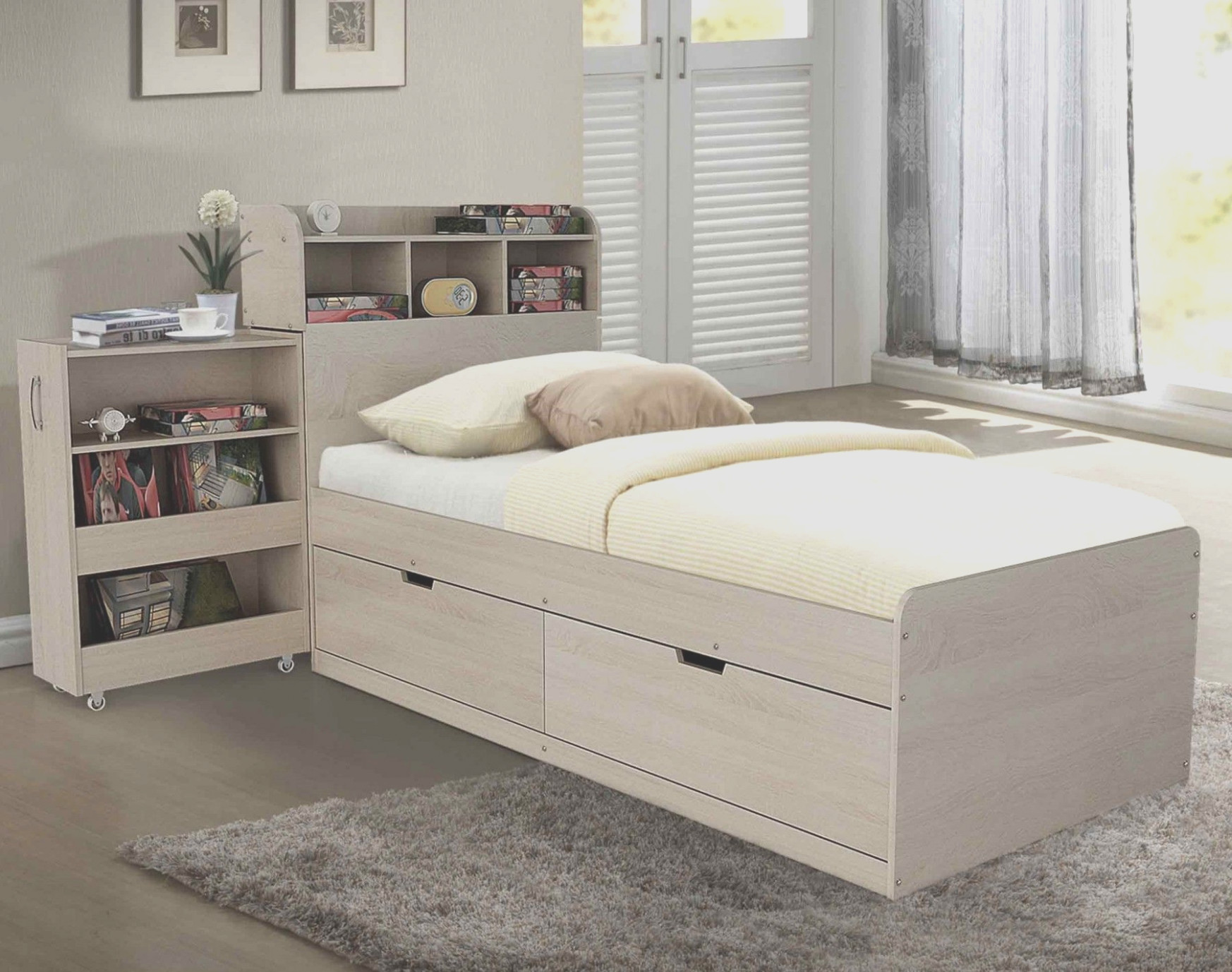 Bed With Cabinet Under