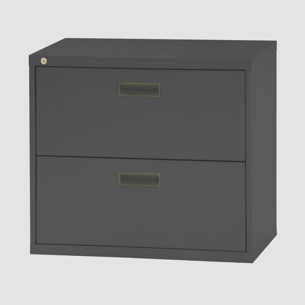 Black Lateral File Cabinet 1 Drawer