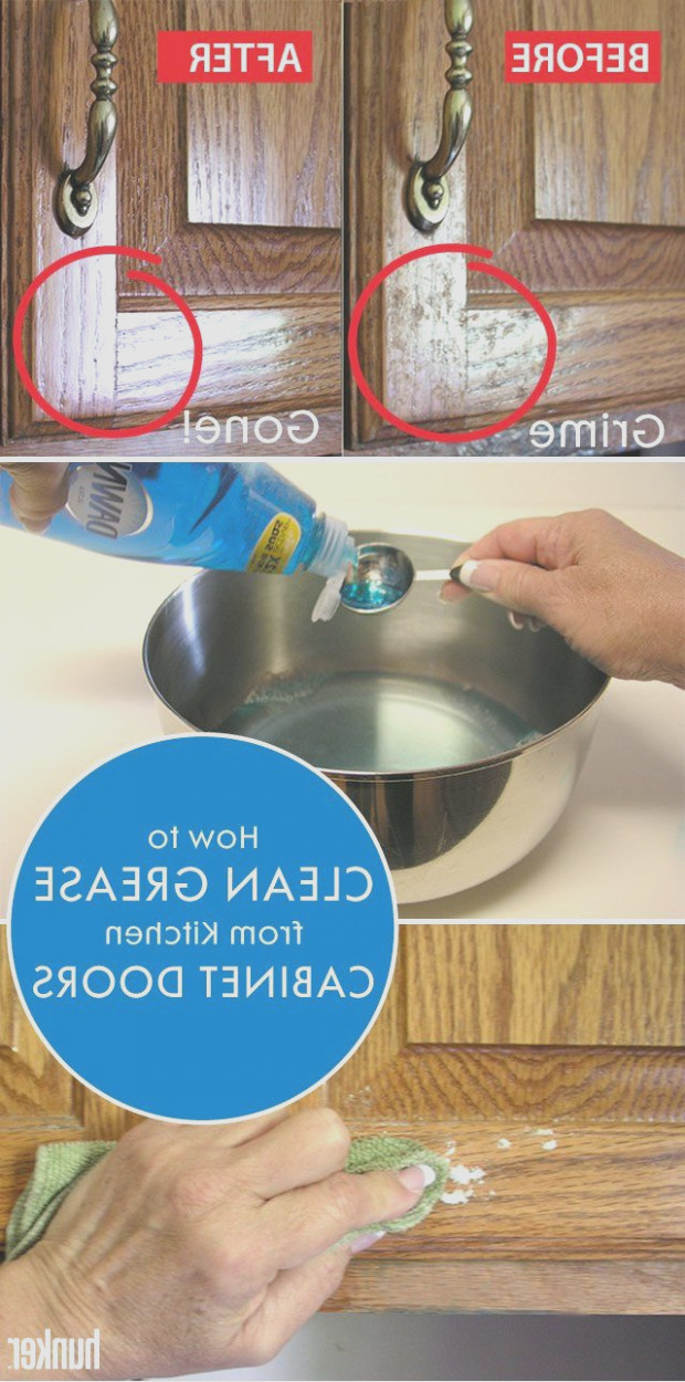 Clean Grease From Kitchen Cabinets