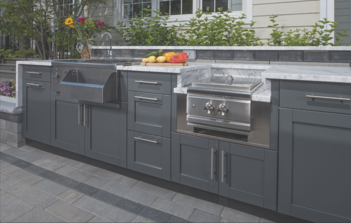Exterior Cabinets for Outdoor Kitchen