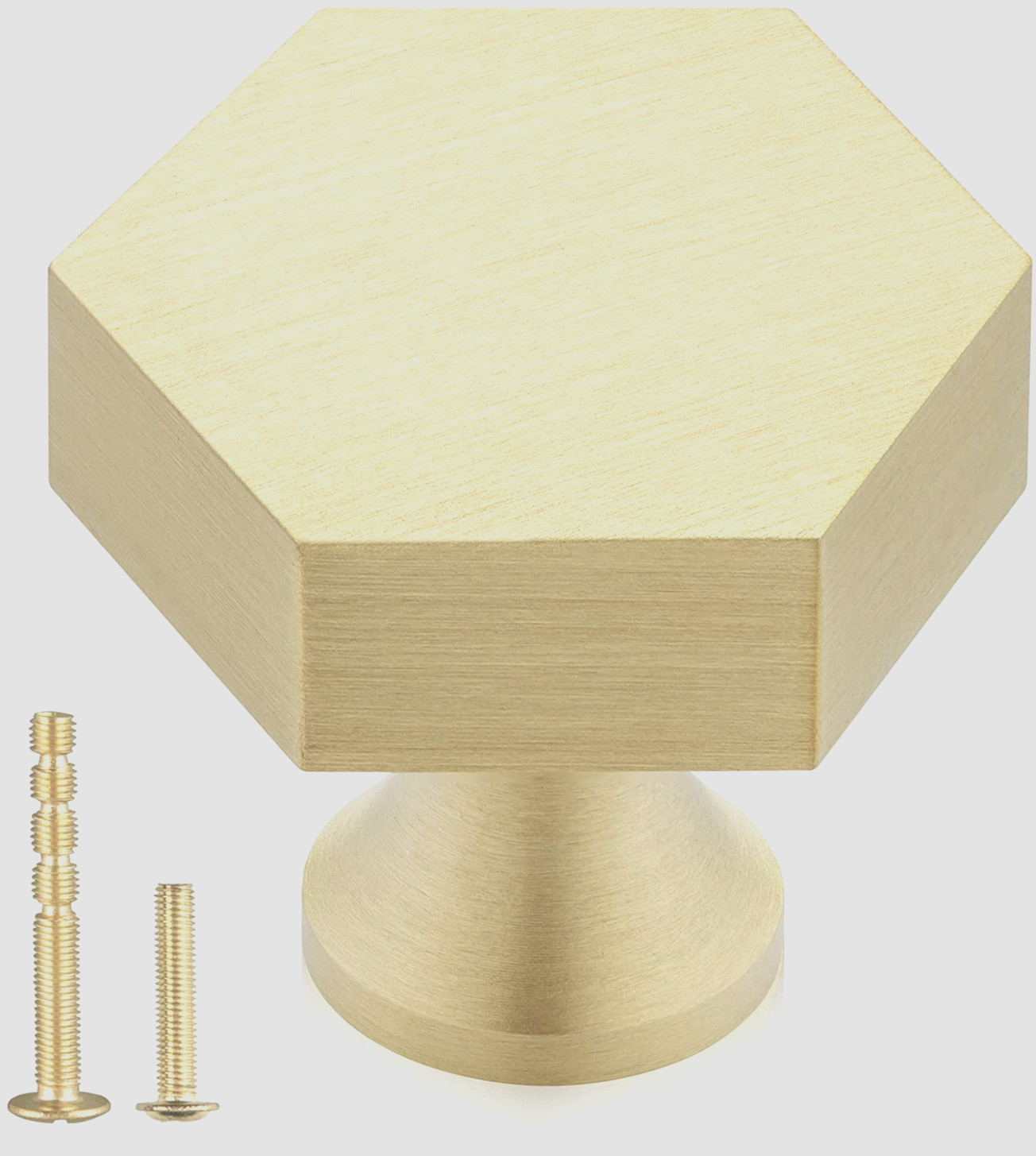 Gold Hexagon Cabinet Knobs