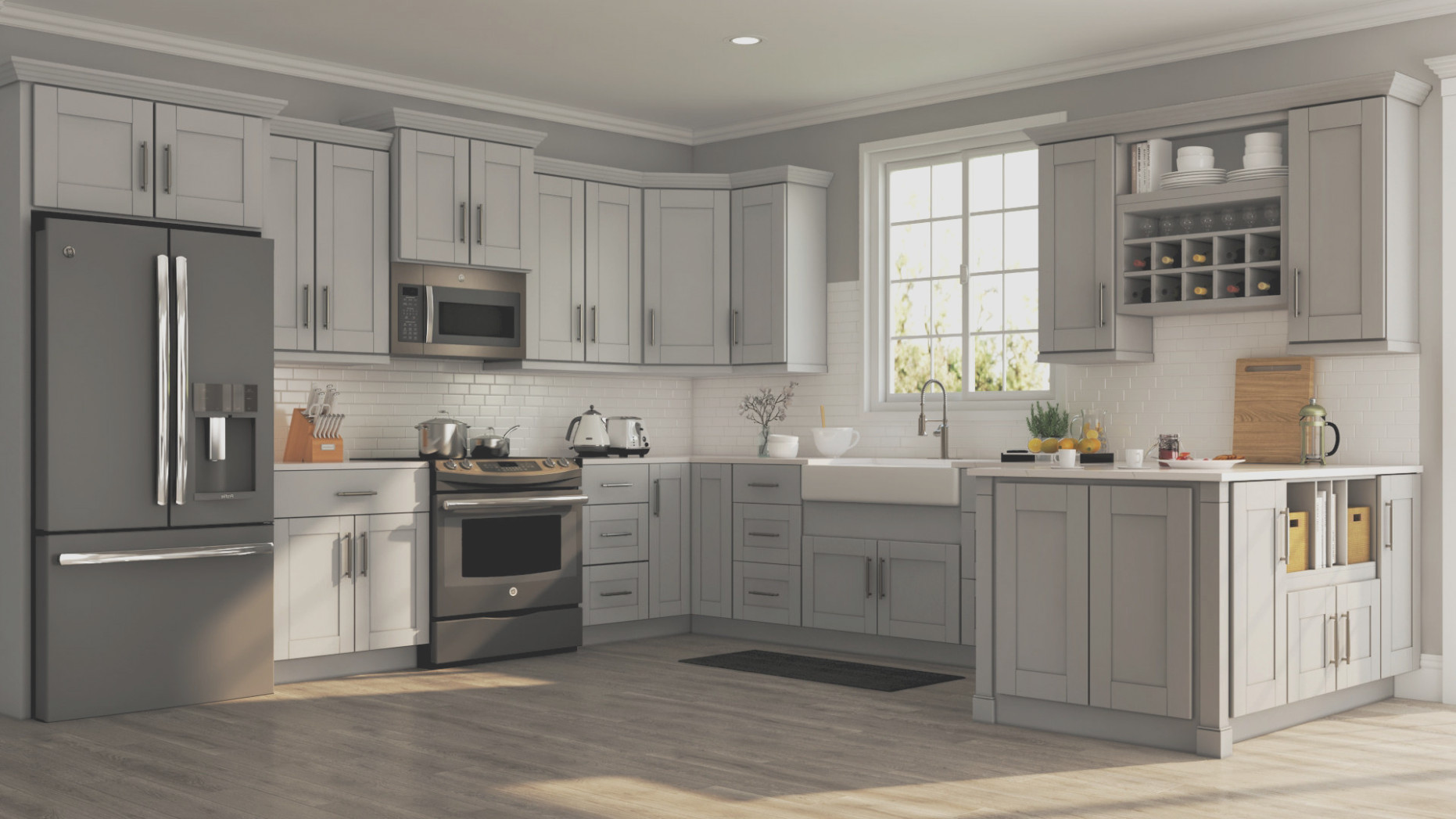 Home Depot Gray Kitchen Cabinets