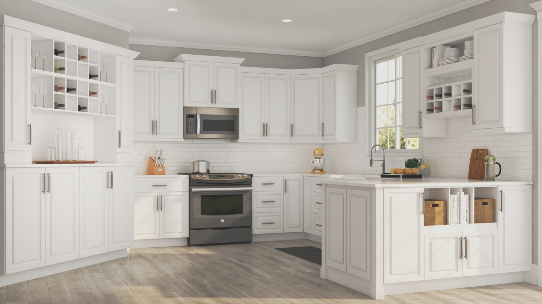 Home Depot Off White Kitchen Cabinets