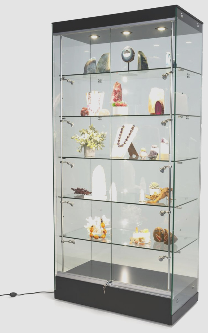 Modern Display Cabinet With Glass Doors