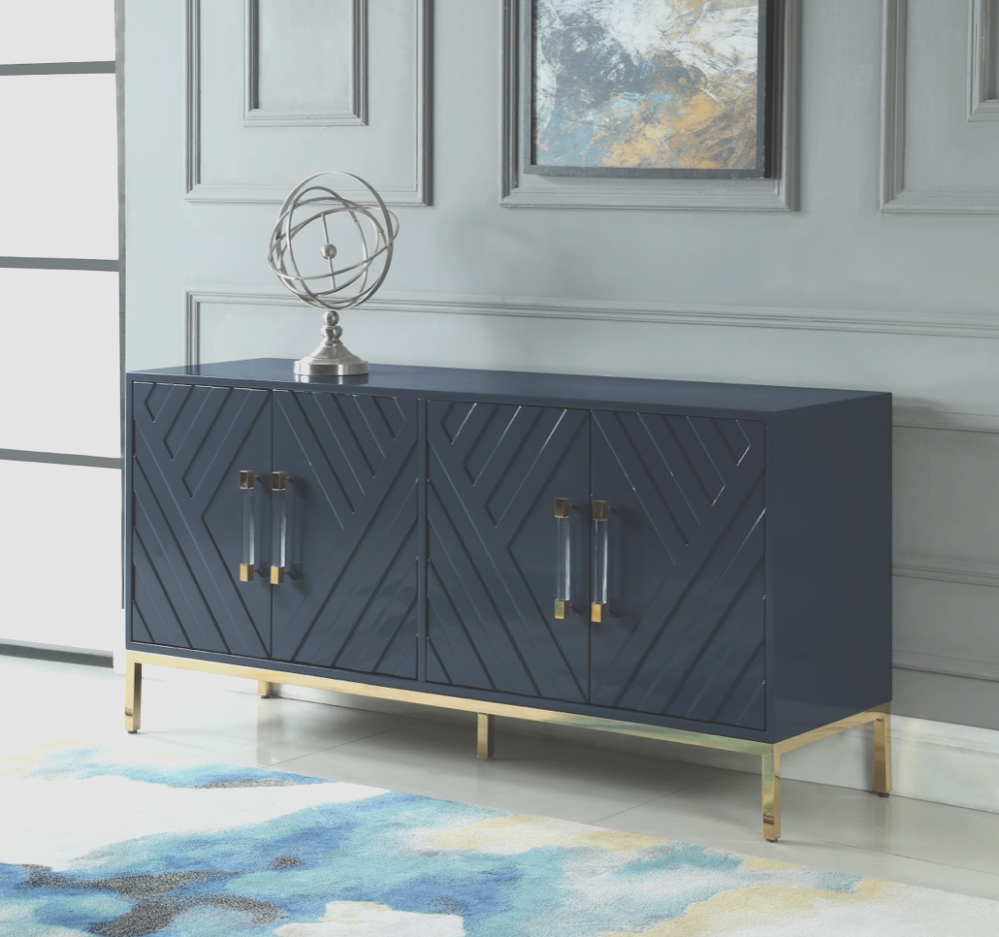 Navy Blue Accent Cabinet