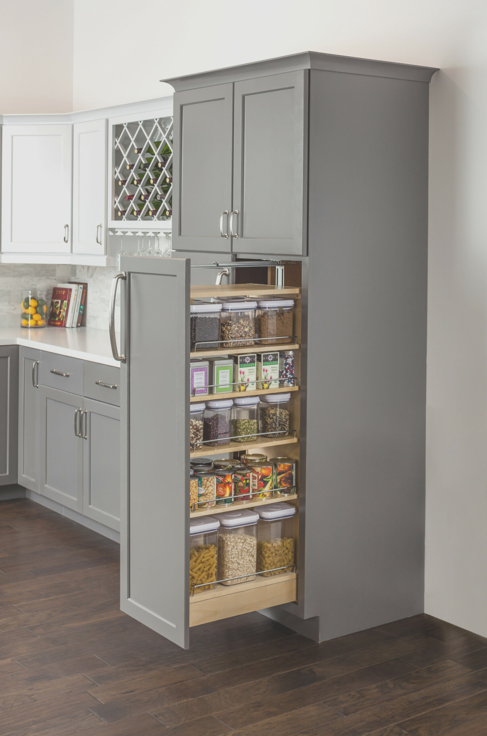 Pantry Cabinet With Slide Out Shelves