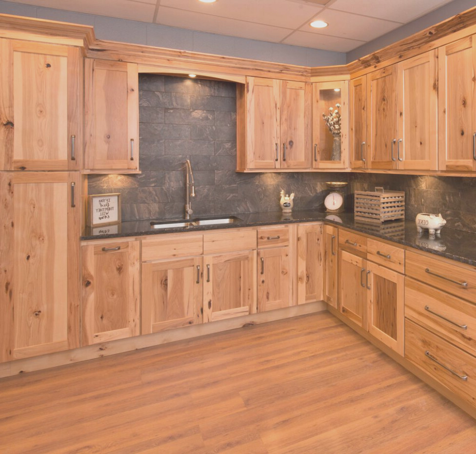 Solid Hickory Kitchen Cabinets