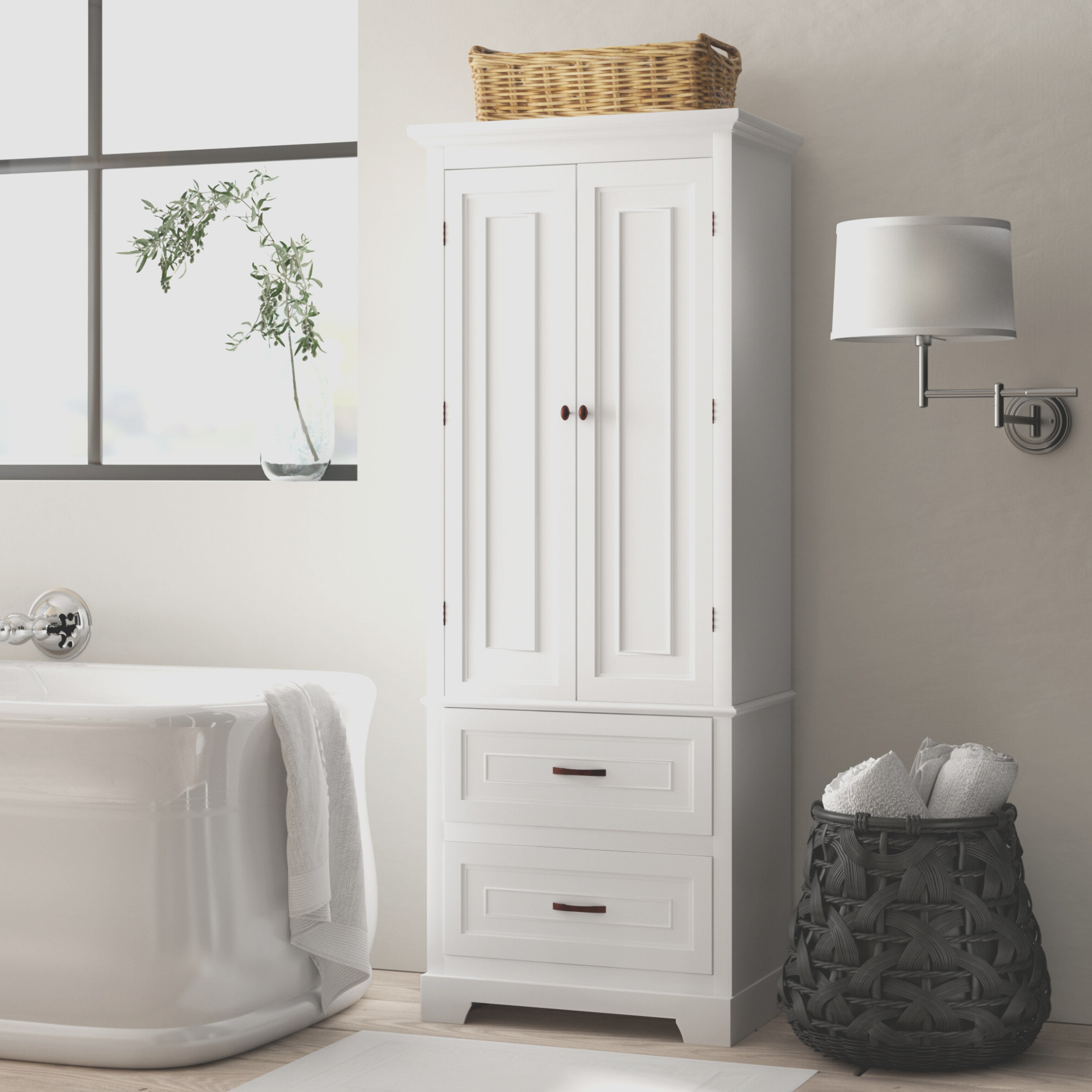 Tall Free Standing Linen Cabinets