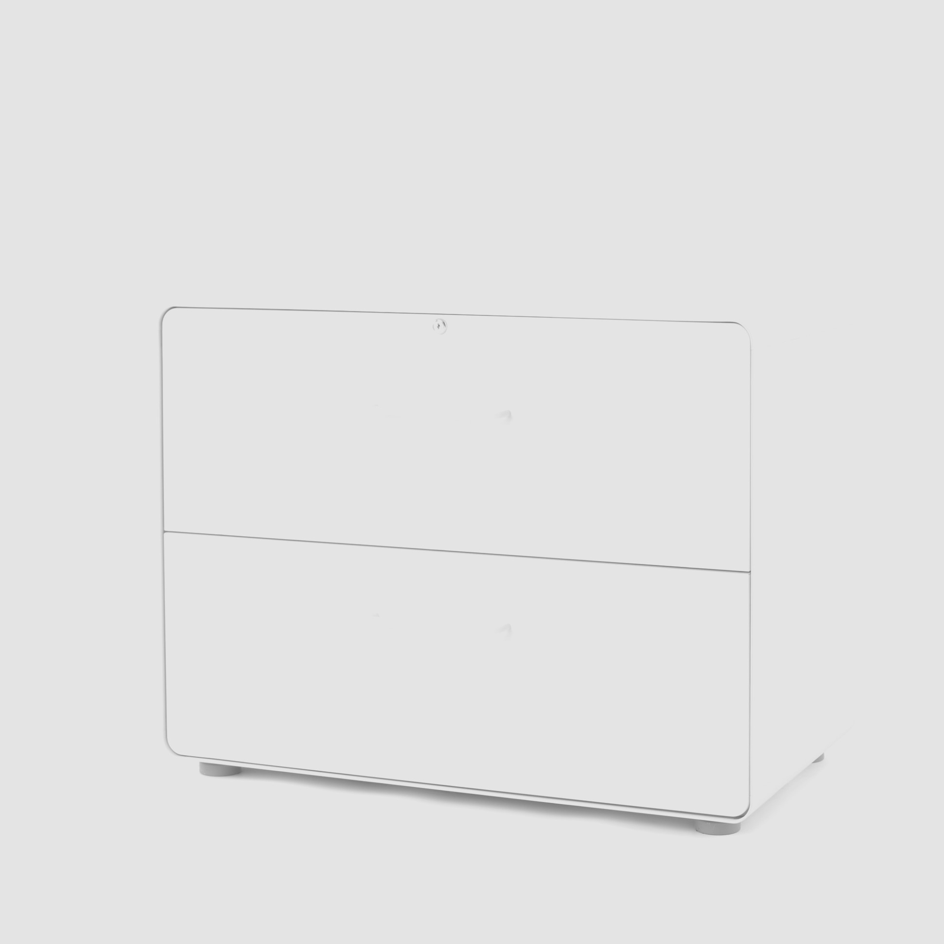 White 1 Drawer Lateral File Cabinet
