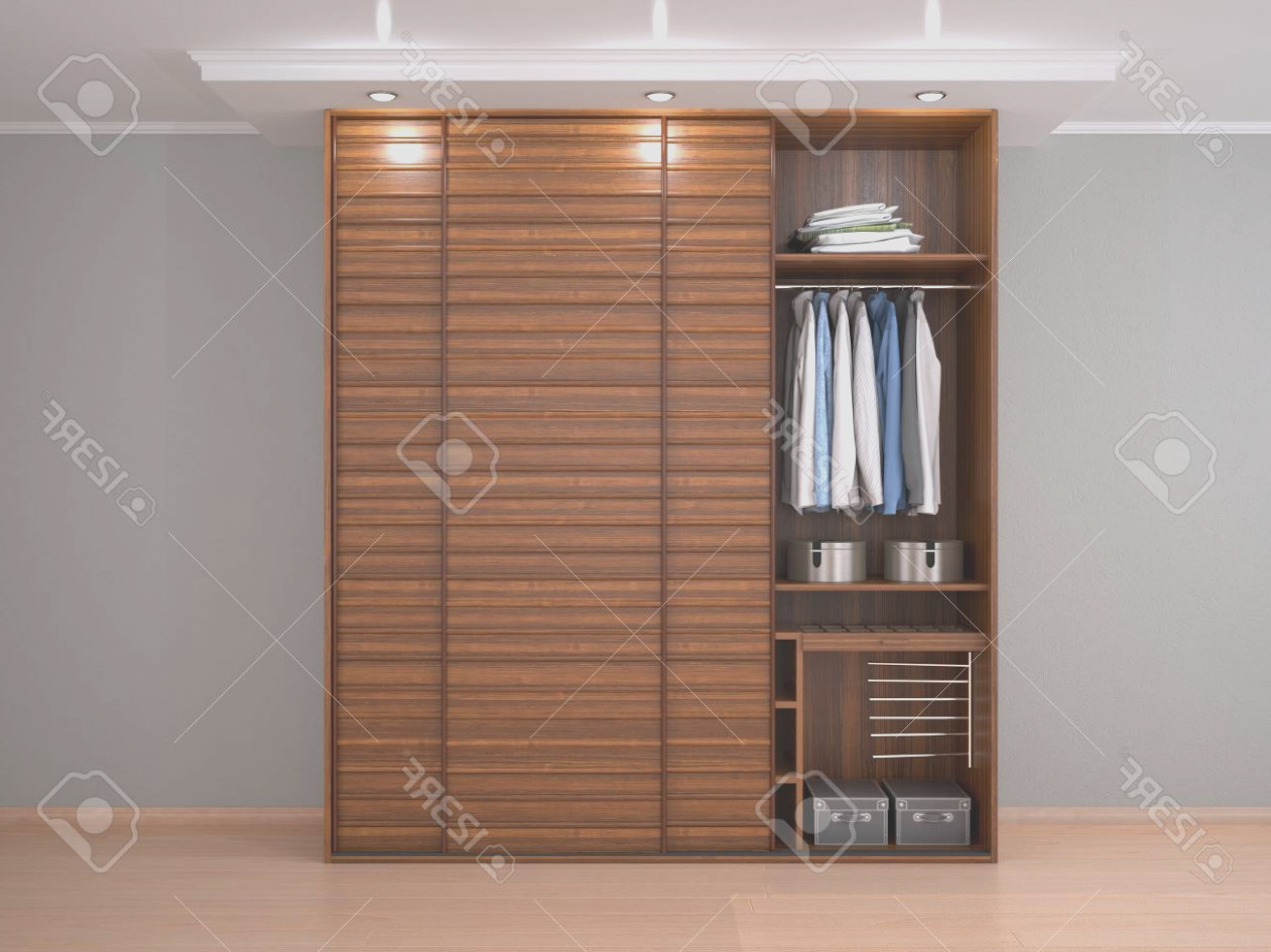 Wood Cabinet With Sliding Doors