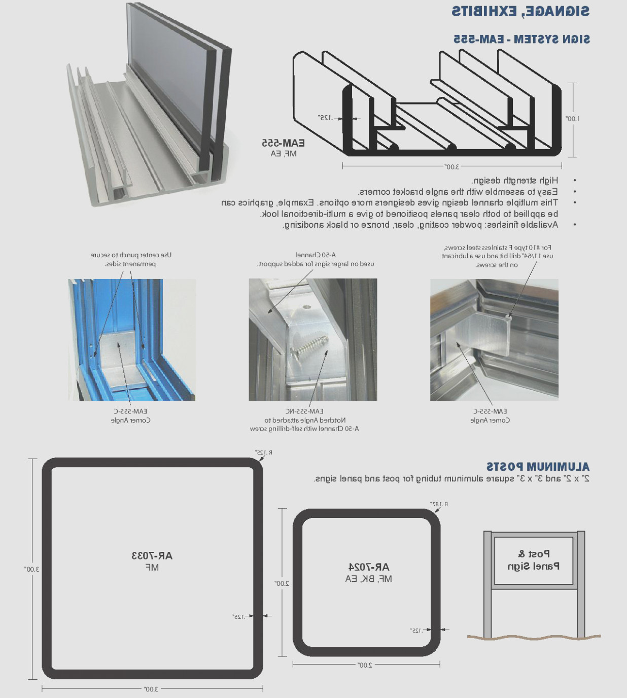 Extruded Aluminum Sign Cabinets