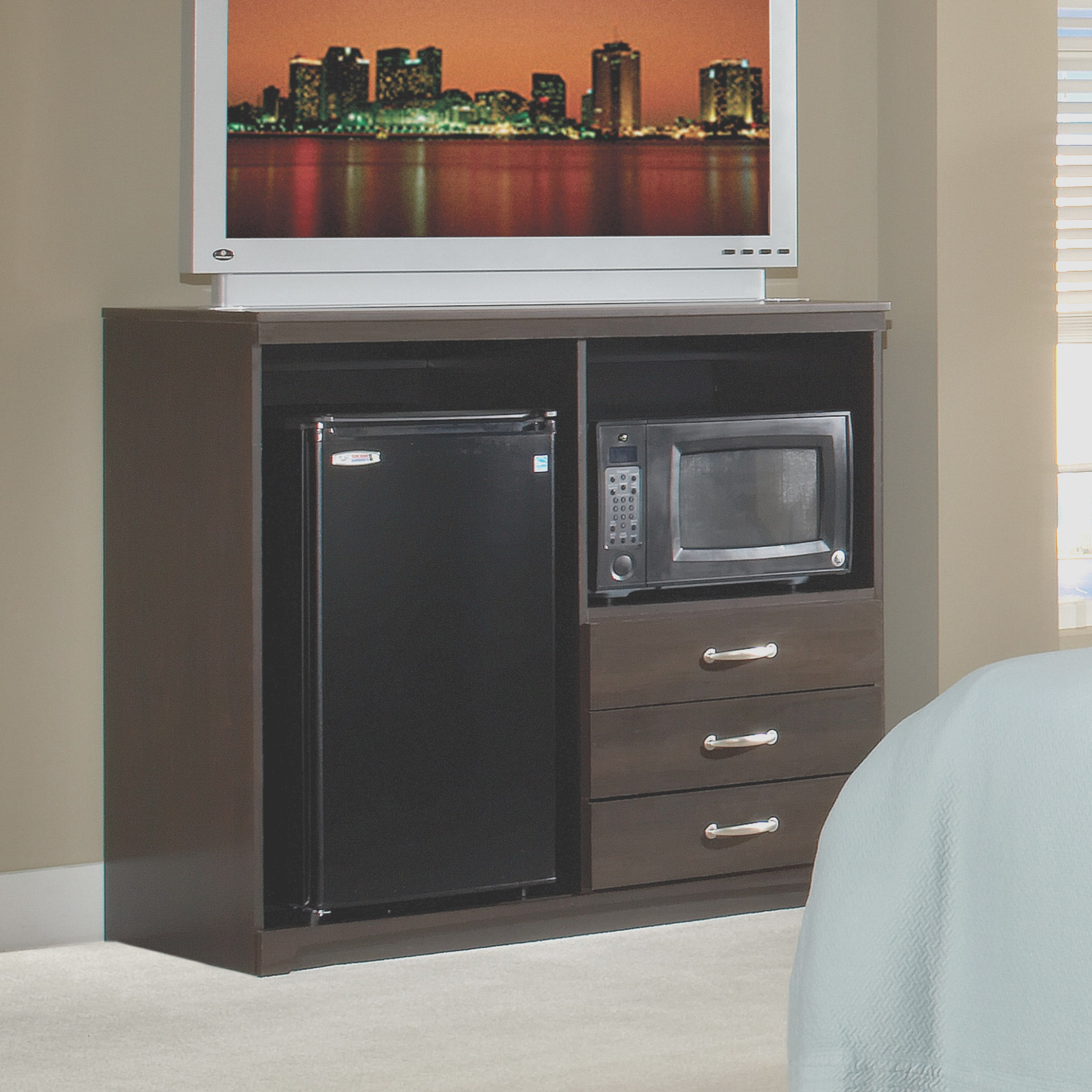 In Room Microwave  Refrigerator Cabinet