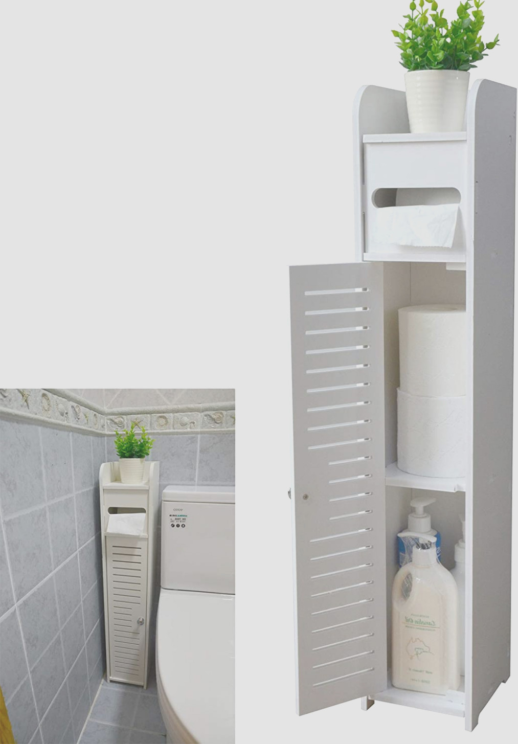 Small Towel Cabinet for Bathroom