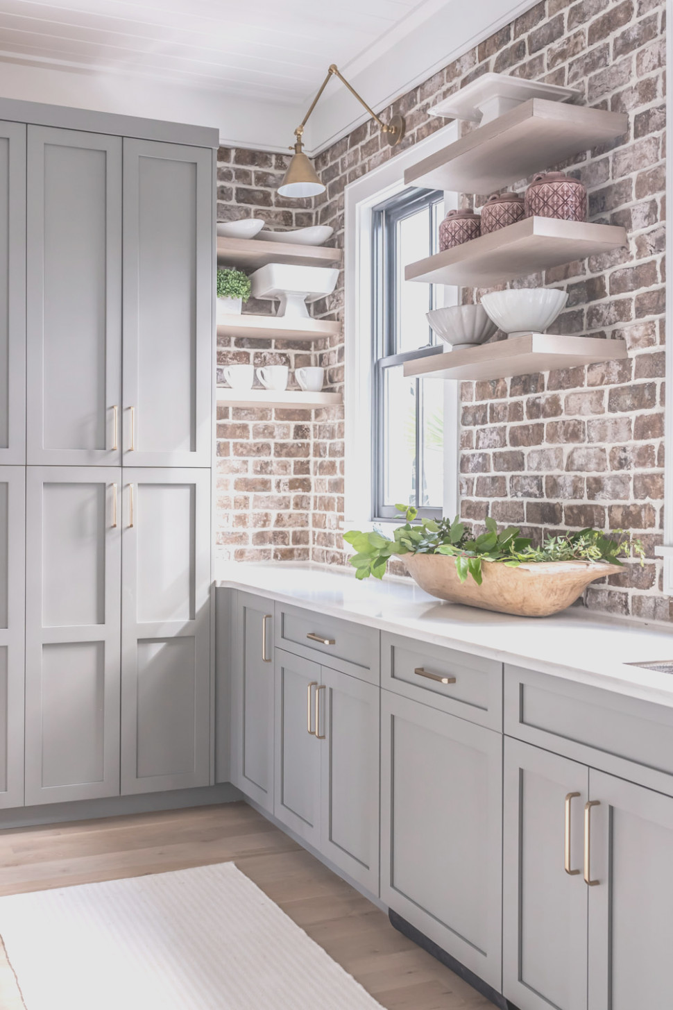 White or Grey Kitchen Cabinets